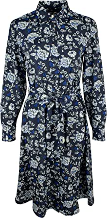 LAUREN RALPH LAUREN 女式 Arobella 花卉印花商务衬衫裙  *蓝多色 8