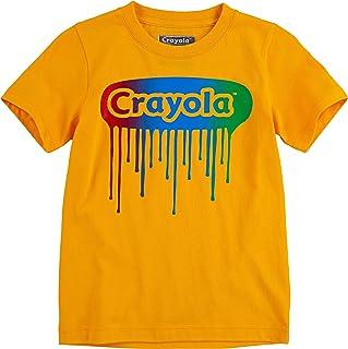 Crayola 男孩短袖图案圆领 T 恤  蓝色火箭 6