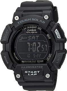 Casio 卡西歐男式'Tough Solar' 石英不銹鋼和樹脂運動手表,顏色:黑色(型號:STLS-110H-1B2CF)