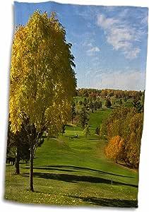 3D Rose USA-Minnesota-Tianna Country Club-Golf Course-Us24 Pha0184-Peter Hawkins 毛巾,15 英寸 x 22 英寸