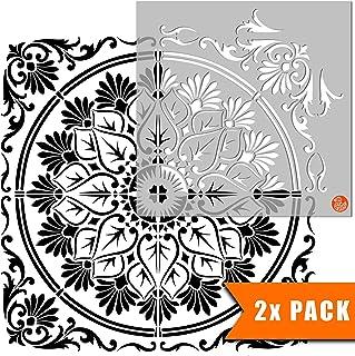 Varanasi 瓷砖模板用于墙壁和地板 | 可定制尺寸 8 inches
