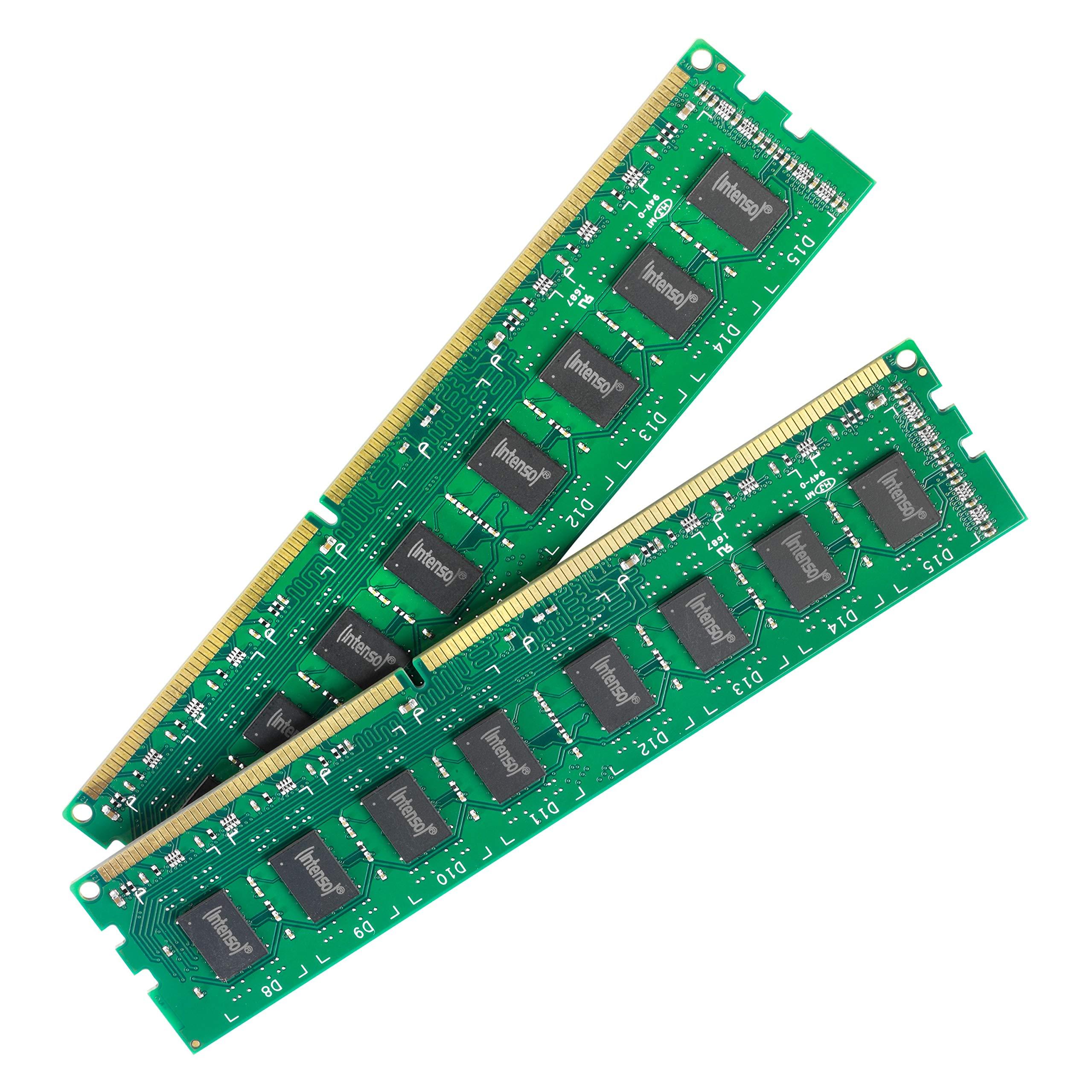 INTENSOデスクトッププロ16ギガバイトDDR4 2400MHzのメモリモジュール -  16ギガバイト(2x8GB、DDR4,2400 MHzの、288ピンDIMMモジュール)