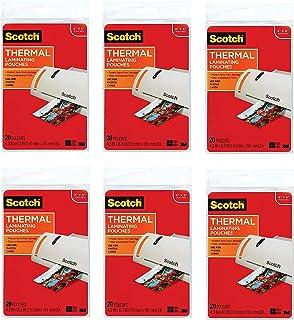 Scotch 热层压袋,4.37 英寸 x 6.36 英寸,20 个袋子 (TP5900-20)