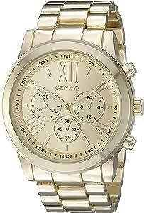 Geneva 女式 FMDJM100D 模拟显示日本石英金手表