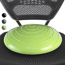 Gaiam Balance Disc 搖擺墊穩定核心訓練器適用于家庭或辦公桌椅和兒童替代課堂感官搖擺座椅