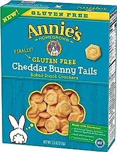 Annie's 本土无麸质切达干饼干 兔子尾巴,7.5盎司(212.25克)(2件装)
