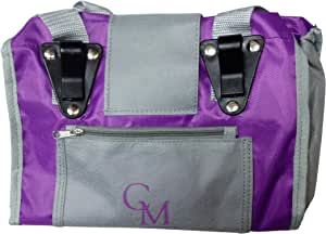 CarryMore Reusable Sturdy Shopping Tote/Bag (2 Pack), Purple with Gray Trimmings