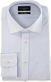 "CONAKA 男士衬衫 ULTRA MOVE SHIRT"" JOHN PEARSE BLACK 白底蓝色条纹 日本 41-82-L (日本サイズL相当)"