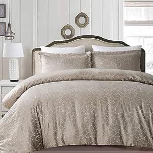 California Design Den Hotel Royal Bloom 羽绒被套套装 Royal Taupe King Size 840307122988