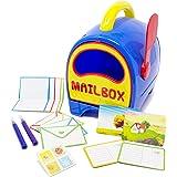 Boley 儿童玩具信箱 - 教育玩具信箱带字母、明信片和印章 - 适合数小时的假装游戏和学习开发乐趣!