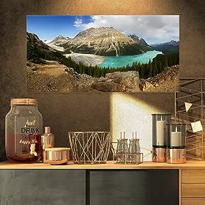 """设计艺术 Peyto Lake 冰川全景画 墙纸 32x16"""" PT11236-32-16"""