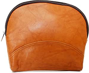 Ashlin Leather 大号化妆品和珠宝包。 British Tan [T7529-18-08]