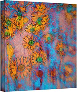 ArtWall Dean Uhlinger 'Floral Thought' Gallery Wrapped Canvas Artwork, 14 by 14-Inch