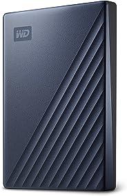 Wd 5Tb My Passport 超蓝色便携式外部硬盘,USB-C - WDBFTM0050BBL-WESN