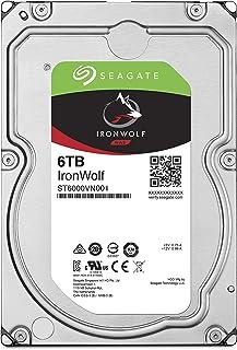 Seagate IronWolf 3.5\ 6TB 内置硬盘 HDD 3年保修 6Gb/s NX5400rpm 24小时工作 PC NAS 用 RV传感器 ST6000VN001/FFP