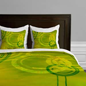 Deny Designs Stacey Schultz 循环世界羽绒被套 Circle World Yellow Queen 13717-duvqun