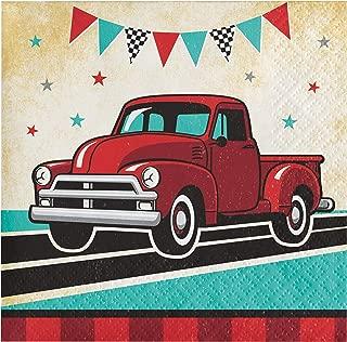 复古红色卡车餐巾纸,48 片