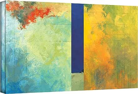 ArtWall Jan Weiss 纹理地球板 III 画廊平面包边艺术画 18 到 36 英寸 0wei051a1836w