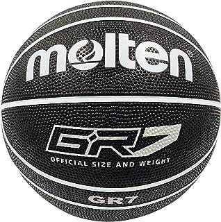 【Amazon.co.jp限定】molten(molten) 篮球 7号球 橡胶 GR7 黑色×白 BGR7-KW BGR7-KW