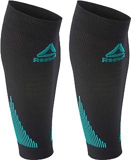Reebok 锐步 中性款针织小腿 S 压缩套,黑色