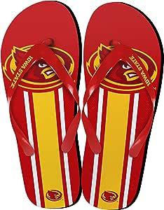NCAA 爱荷华州旋风大徽标人字拖,中号,红色
