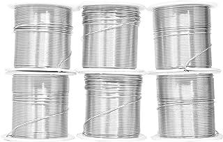 Mandala Crafts 12 14 16 18 20 22 规格阳极氧化珠宝制作串珠花卉彩色铝工艺线批发组合 组合 1 22 Gauge Aluminum Wire Combo