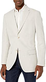 Perry Ellis 男式西装外套 淡色(Natural Linen) 42 Long