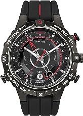 TIMEX 天美时 美国品牌 IQ系列 石英手表 男士腕表 T2N7(潮汐 温度 指南针 硅胶表带 )