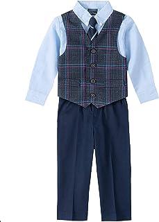 Nautica 男孩套装与背心裤子衬衫和领带