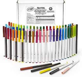 Crayola 繪兒樂 Super Tips 可水洗馬克筆,80支套裝包含43種獨特顏色,25種受歡迎的顏色各2支,和12種香味漸變色,適合3歲及以上兒童的美術工具