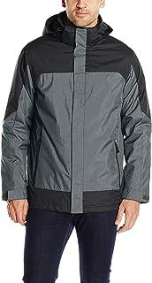 32Degrees Weatherproof Men's 3 In 1 Systems Jacket Colorblock, Charcoal Melange/Black, Medium