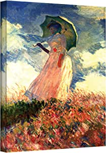 Art Wall Woman with Sunshade Gallery Wrapped Canvas by Claude Monet, 14 by 18-Inch