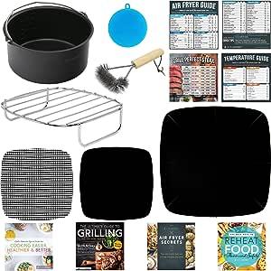 元素捆绑包 Accessories for Square Shape Air Fryer Baskets Small to Medium