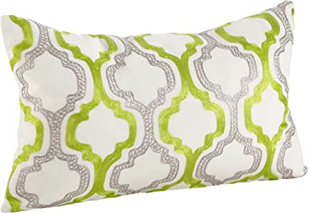 "SARO LIFESTYLE 0011.M1220B 摩洛哥瓷砖设计羽绒抱枕,多色,30.48cm x 50.80cm 多种颜色 12"" x 20"" 0011.M1220B"