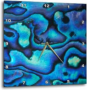 """3dRose dpp_73908_3 Pattern of Paua Shell , New Zealand AU02 DWA4678 David Wall Wall Clock, 15 by 15"""""""