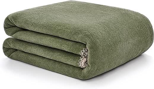 Arus Home 系列棉混纺双面奢华抱毯 Forest-sand 60x80 inches