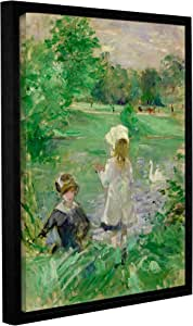 "Tremont Hill Berthe Morisot""Beside A Lake"" 画廊装裱地板画框油画 绿色 18X24"" 1mor011a1824f"