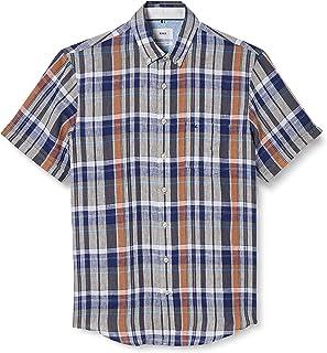 BRAX 男士 Style Drake Airwashed Linen 休闲衬衫