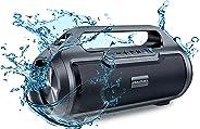 Dolphin 便攜式防水藍牙音箱,大功率 30W 無線吊桿盒,包含 FM 收音機,USB/SD MP3,Aux 輸入