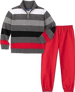 Nautica 诺帝卡 男孩 2 件套毛衣套装和裤子