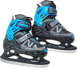 Nijdam 可调节冰球儿童滑冰鞋 黑色