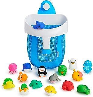 Munchkin Super Scoop 洗澡玩具收纳盒和 16 件沐浴露超值套装