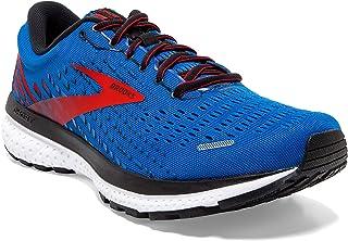 Brooks 缓震系列 男款 Ghost 13 跑鞋, Blue/Red/White, 10.5 UK