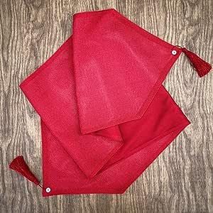 "CAIT CHAPMAN HOME COLLECTION 假日节日纯色金属纹理编织面料桌布 红色 13"" x 59"""