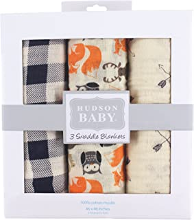 Hudson 宝宝棉布包巾 Woodland Creatures 均码