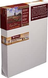 "Masterpiece Monet PRO 1-1/2"" Deep, 4 x 6 Inch, Monterey 7oz Acrylic Primed Cotton Canvas"