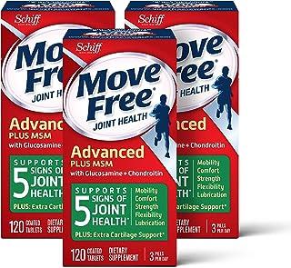 Move Free  益节葡萄糖胺和软骨素+ msm关节维生素片,move free(1瓶120粒),3瓶,360粒