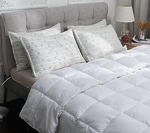 Elegant Comfort 超奢华竹制切碎*海绵,可调节大小,拉链可拆卸,流量,人造丝,透气凉爽,防*枕套 灰色 King Bamboo-Pillow-K-4PACK