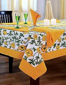 彩色多色棉质春天花卉 tablecloths 表 多色 54 X 54 Inch
