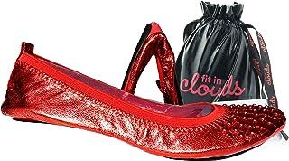 适合 Clouds 耳钉装饰便携式可折叠平底鞋携带袋